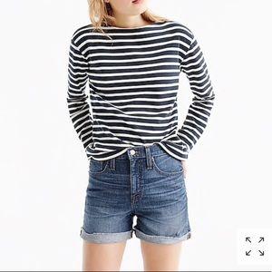 J Crew roll cuff denim shorts size 27